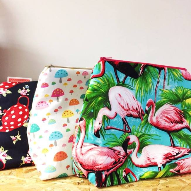 flamingo wash bags made in ashford