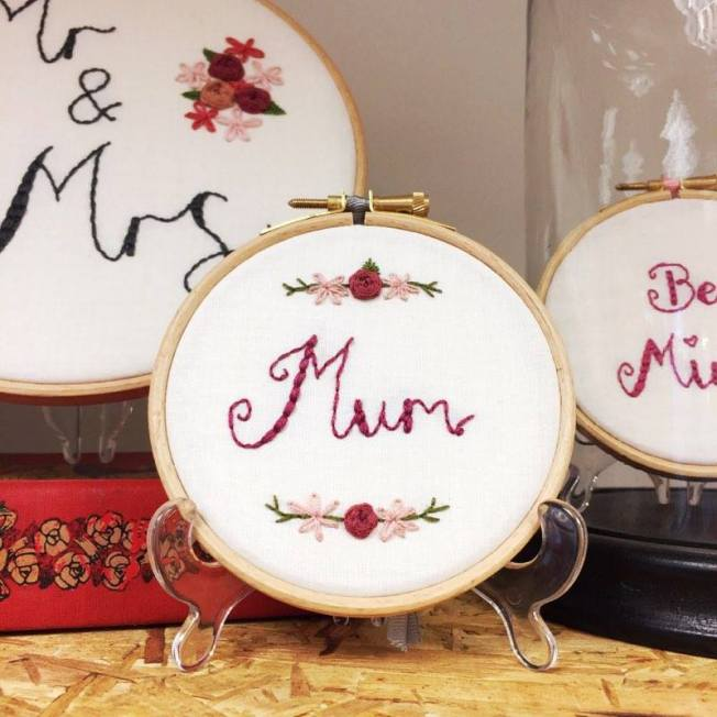 hand embroidered mum by louloumoore