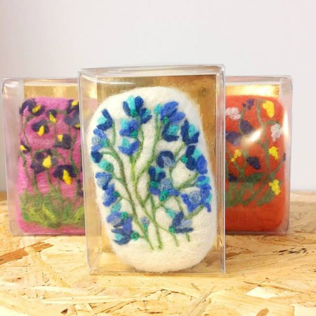 hand felted soap by soapy willow