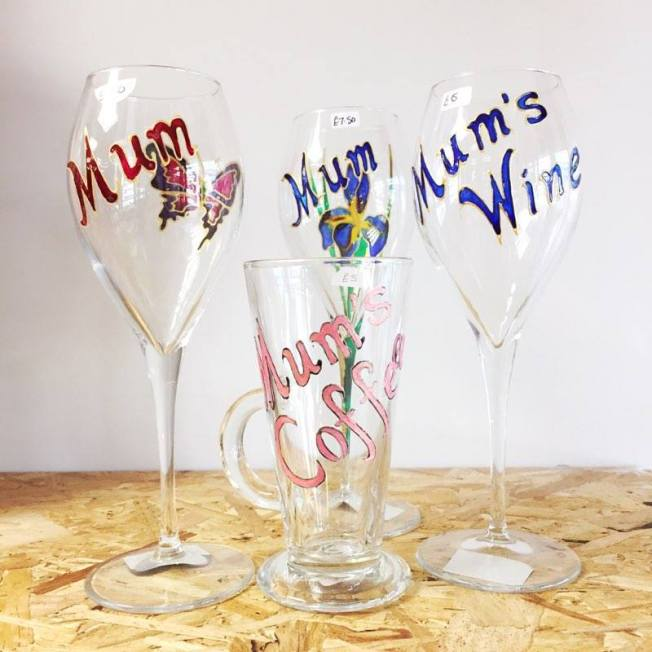 mothers day wine glass made in ashford